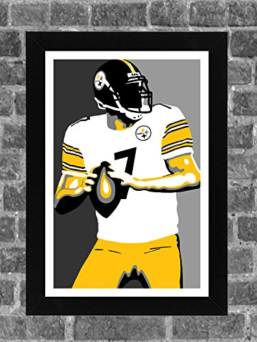 Pittsburgh Steelers Wrapping Paper - Pittsburgh Steelers Ben Roethlisberger Portrait Sports Print Art 11x17