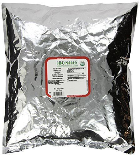 Frontier Natural Products, Organic Cut & Sifted Hibiscus Flower, 16 oz (453 g) by Frontier Natural
