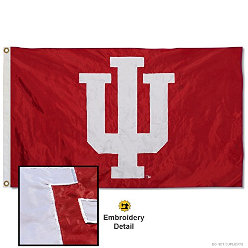 Indiana Hoosiers Embroidered and Stitched Nylon ()