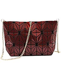 Geometric luminous purses and handbags shard lattice eco-friendly Leather crossbody bag