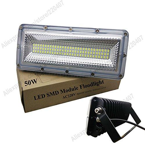WarM White3500K, 50W 220V COB Chips : 1pcs 50W LED flood light COB Chips SMD5730/2835 Floodlight IP65 AC85-265V waterproof graden lamp outdoor spotlight