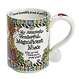 """Enesco 4053272 Suzy Toronto Niece Mug, 4.25"""", Multicolor"""
