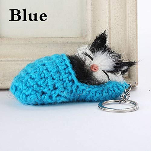 Sleeping Cat Keyring Car Accessories Keychain Pendant Bag Charm Decor Key Chain (Color - -