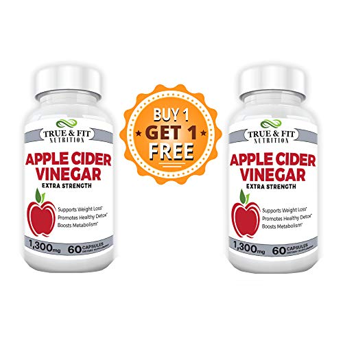 Apple Cider Vinegar Pills - Natural Weight Loss Capsules - Best Weight Loss Pills Supplement by True and Fit Nutrition