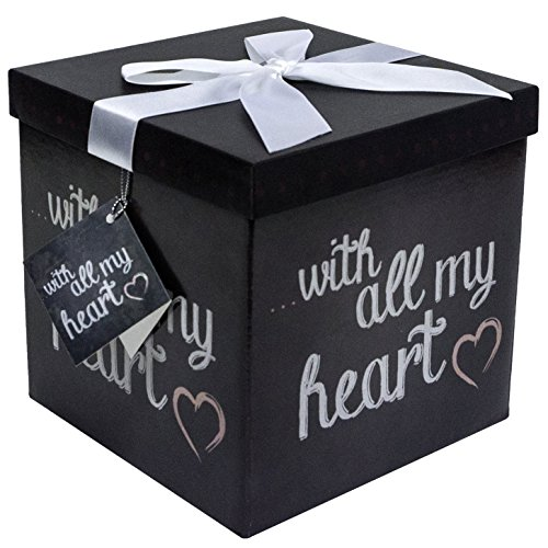 endless art us amrita all my heart ez gift box easy to assemble and no glue required 7x7 - Decorative Gift Boxes