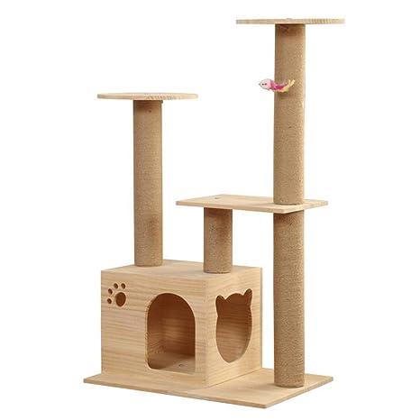 CQSMOO Cat Palace 3 Plataforma Árbol rascador para Gatos, Centro de Actividades, Juguete para