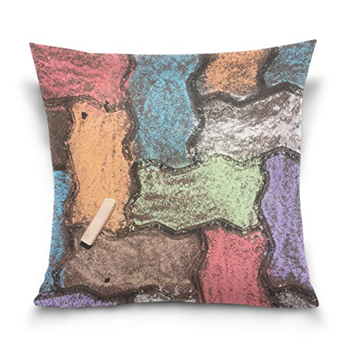 Jere Colorful Wall Pillow Cover, Pillow Covers 16 x 16 Decorative Square Cotton for Bed Sofa