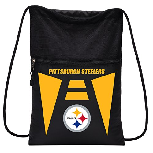 Officially Licensed NFL Pittsburgh Steelers Team Tech Backpack Backsack, One Size