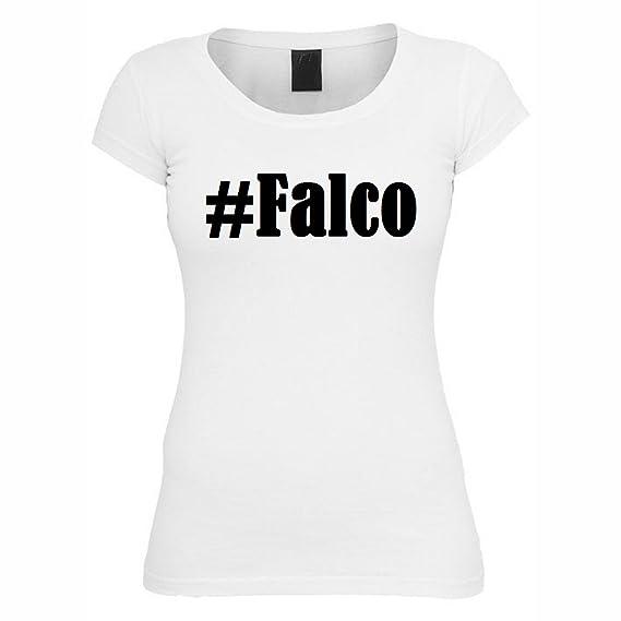 T-Shirt #Falco Hashtag Raute für Damen Herren und Kinder ... in den Farben  Schwarz und Weiss: Amazon.de: Bekleidung