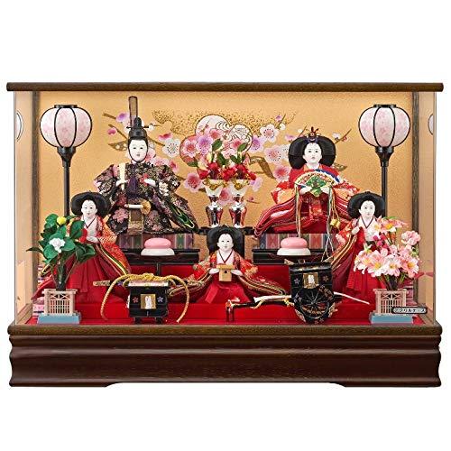 雛人形 5人アクリルパノラマケース 【のぞみ】 三五芥子 5人飾り [間口61cm] 【fn-17】 ひな祭り   B07JRD5X2C