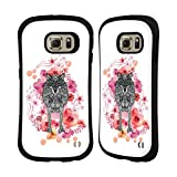 Official Monika Strigel Wolf Animals And Flowers 2 Hybrid Case for Samsung Galaxy S6 edge