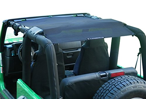 Alien Sunshade Jeep Wrangler Sunshade - Jeep TJ Sunshade (96-05) & Jeep YJ (87-95) Jeep Mesh Top (Black)