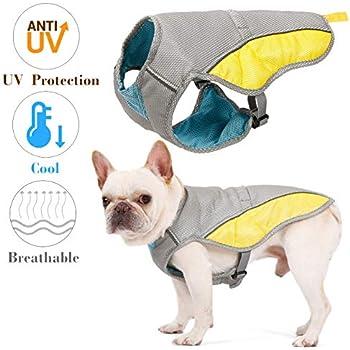 Kismaple Reflective Adjustable Dog Cooling Vest for Small Medium Large Dogs Puppy Cooling Jacket Pet Breathable Cooling Coat Summer Vest (S)