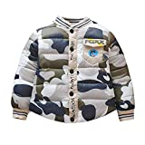 Jchen(TM) Clearance Little Kids Camouflage Coat,Suitable for 0-3 Years Old,Infant Toddler Baby Girls Boys Camouflage Zipper Warm Winter Coat (Age: 18-24 Months, Gray)
