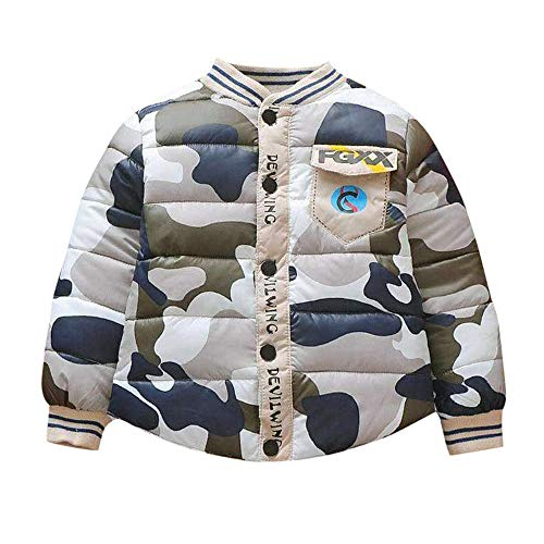 Jchen(TM) Clearance Little Kids Camouflage Coat,Suitable for 0-3 Years Old,Infant Toddler Baby Girls Boys Camouflage Zipper Warm Winter Coat (Age: 18-24 Months, Gray) by Jchen Baby Coat