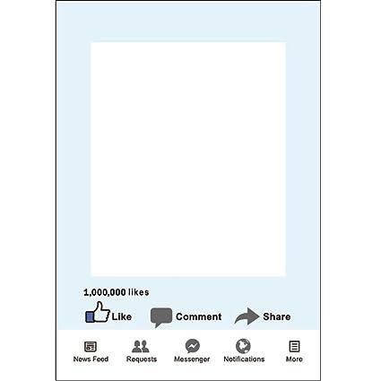 Amazon.com: 1pcs FB Social Media Photo Frame Booth Prop Paper Photo ...