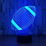 LLUUKK Visual 3D Desk Lamp American Football Rugby Ball Toys Desk Lamp Gift Acrylic toys Table decoration household accessories Kids gift boys festival