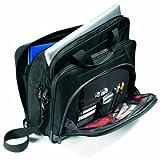 Samsonite Luggage Pro 3 Laptop 2 Gusset Briefcase, Black/Orange, One Size, Bags Central