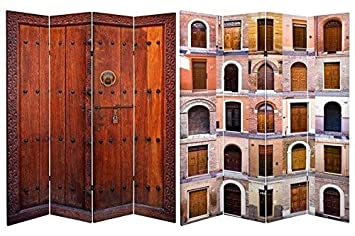 Amazoncom Oriental Furniture 6 Ft Tall Double Sided Doors Canvas