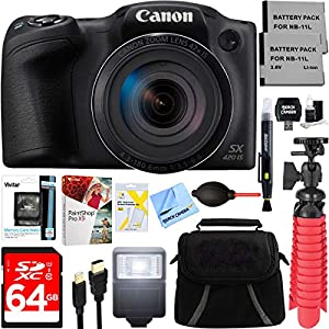 51mSGwKdMuL. SS300  - Canon PowerShot SX420 is 20MP 42x Optical Zoom Digital Camera (Black) + Two-Pack NB-11L Spare Batteries + Accessory…