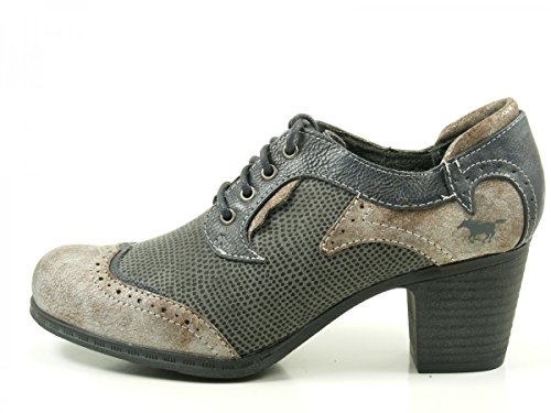 NAVY Bleu DERBY 201 SHOES GRAU 1258 MUSTANG zHpqSwCxx