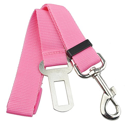 SODIAL(R) Pink Car Vehicle Auto Seat Safety Belt Seatbelt for Dog Pet