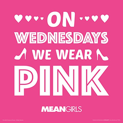 Culturenik Mean Girls Karen Wednesdays We Wear Pink Teen Comedy Movie Film Poster Print (Unframed 12 x 12 Print) -