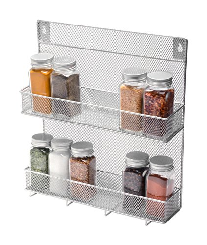 YBM Home Spice Rack 2 Tier With Hooks(W'11.3/4 L'12.3/4 Depth'4 Inch With The Hooks) by Ybmhome (Image #3)'