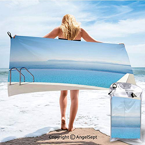 SCOCICI Ultra Fast Dry Travel and Sports Towels,Vacation Endless Horizon Refreshing Romance Honeymoon Happiness Water Multicolor,27.5