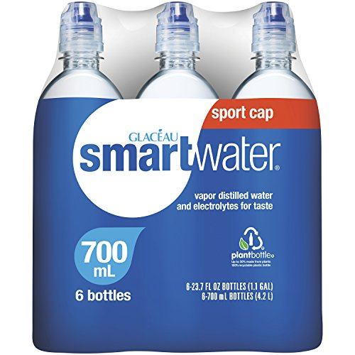 smartwater Sport Cap, 23.7 Fluid Ounce (Pack of 6)