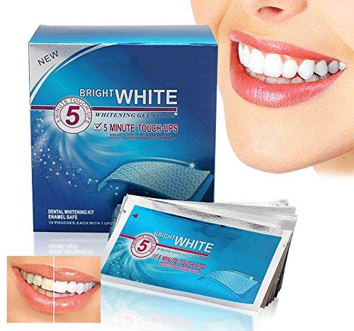 28 dents Whitestrips Blanc Brillant professionnels bandes blanchissantes Double élastique Gel bande Monnaie Guide Flavor + Bonus Shade