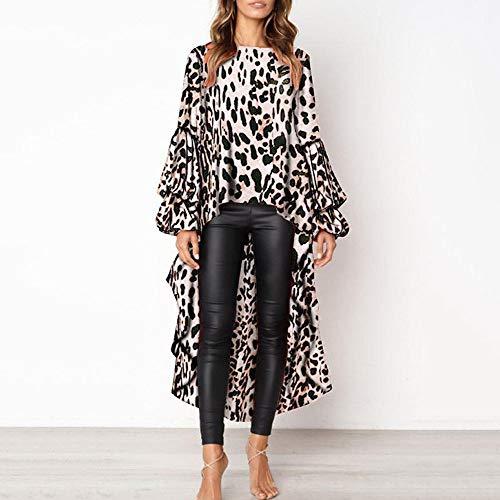 Basteln, Malen & Nähen Damen Leopard Jacke Frauen Herbst