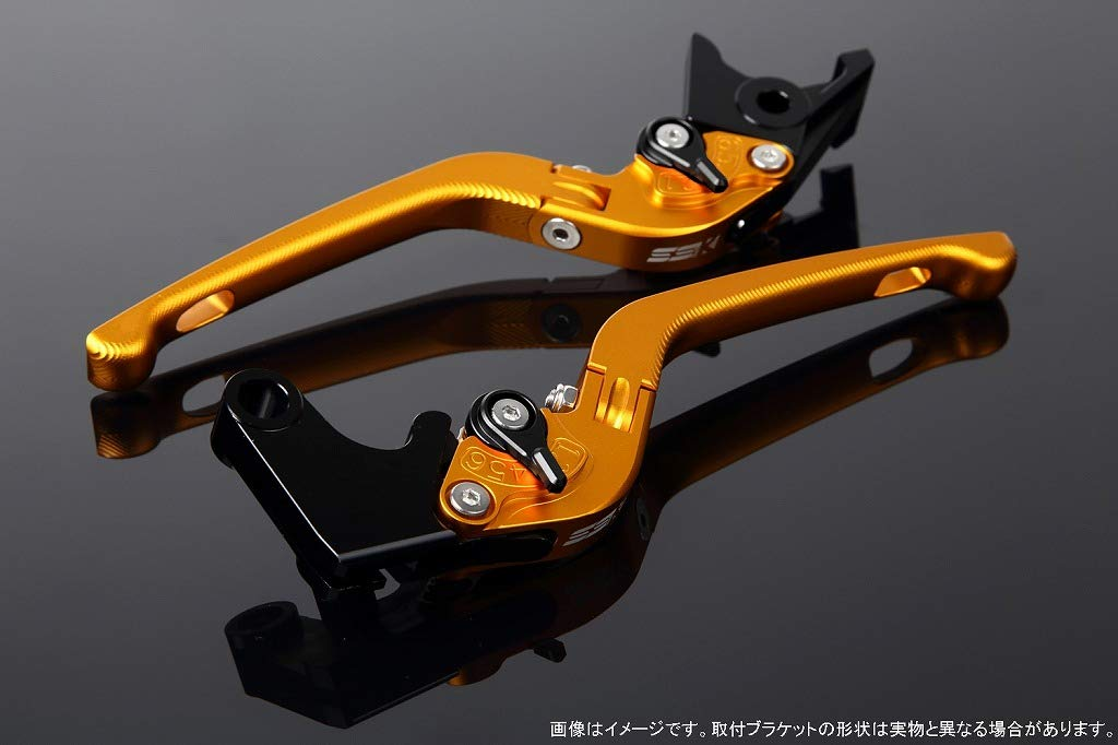 SSK アジャストレバー 3D可倒式 レバー本体カラー:マットゴールド アジャスターカラー:マットブラック B07MX7TZWC