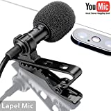 Lavalier Lapel Microphone ?? Omnidirectional Mic with Easy Clip On System ?? Perfect for Recording Youtube / Interview / Video Conference / Podcast / Voice Dictation / iPhone