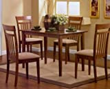 Coaster-5-Piece-Dining-Set-in-Chestnut-finish