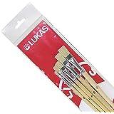 LUKAS Flach-Pinsel 5er Set - Studienqualität - Borstenpinsel - für Acryl, Öl, Gouache etc. Größe: 2, 6, 8, 10, 12 - Artikelnr. 54860055