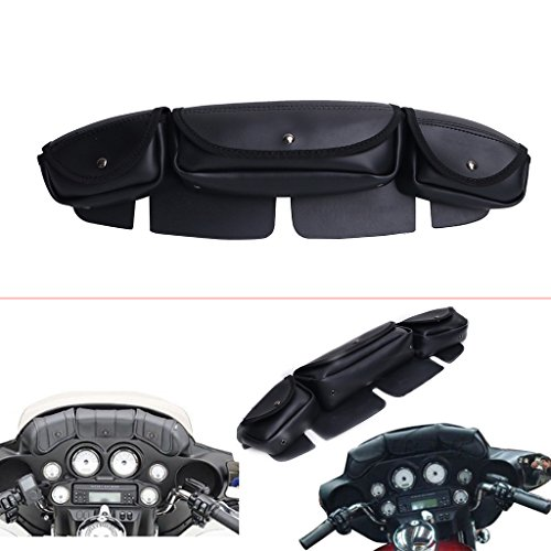 Saddle 3 Pouch Pocket Fairing For Harley Touring Electra Street Glide Most Motorcycles (Jade Coaster)