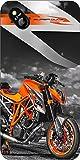 Shengshou Sports Bike Design Mobile Back Cover for Micromax Bolt D303 - Orange black