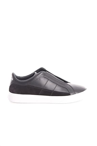 Hogan SNEAKERS H365 SLIP ON IN PELLE-CAMOSCIO NERA 52d3f6bc9ff