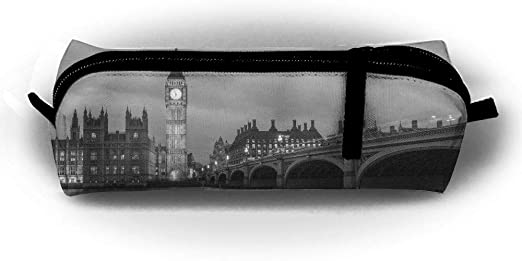 Estuche para lápices de Londres, color blanco y negro, con cremallera, pequeño neceser de maquillaje, para niños, adolescentes y otros suministros escolares.: Amazon.es: Hogar