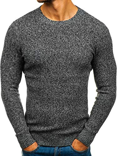 Imprimé Pullover À Style Le Travers Sweatshirt Longues h1803 La Hiver Col Inséré Manches Street Tête Bolf 5e5 Homme Rond Gris 5SxgqwREx