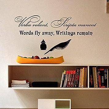 Amazon.com: Wall Decals Verba volant Scripta Manent Words fly away ...