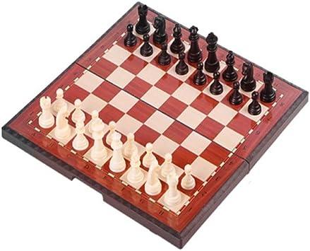 Ajedrez, Juego de ajedrez Plegable, Caja magnética de ajedrez portátil, Especial for Juegos, Regalos y Juegos