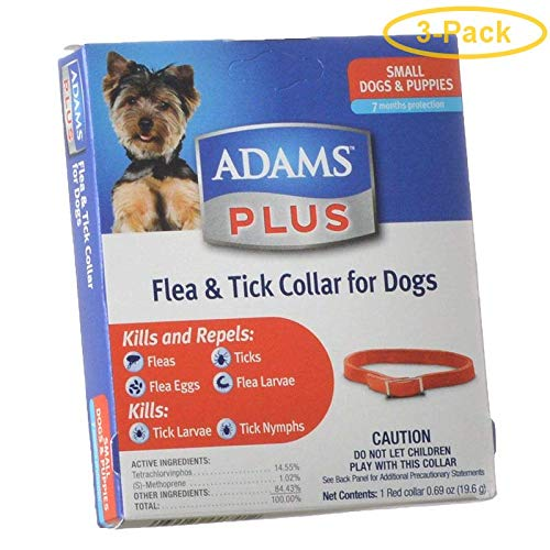 Adams Plus Flea & Tick Collar for Dogs Small Dogs - Pack of 3