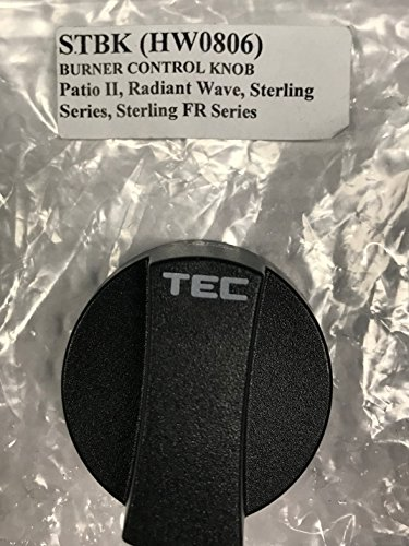 TEC Infrared Gas Grill Factory Main Burner Control Knob Black Plastic STBK - Infrared Main Burner