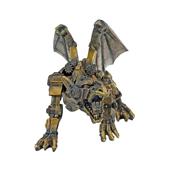 Design Toscano CL6610 Steampunk Gothic Gear Dragon Statue, Bronze 5