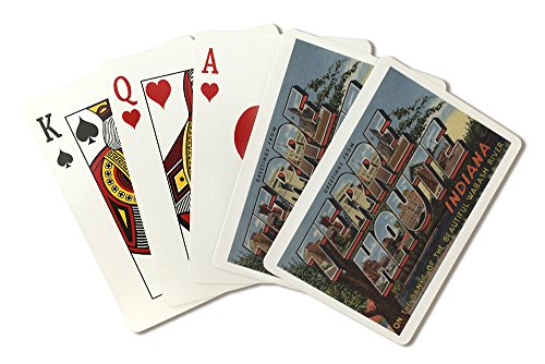 Terre Haute  Indiana   Wabash River   Large Letter Scenes  Playing Card Deck   52 Card Poker Size With Jokers