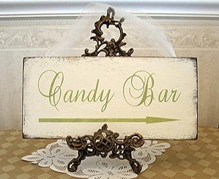 Wood Plaque Cartel de Mesa Dulce con Texto en inglés Candy ...