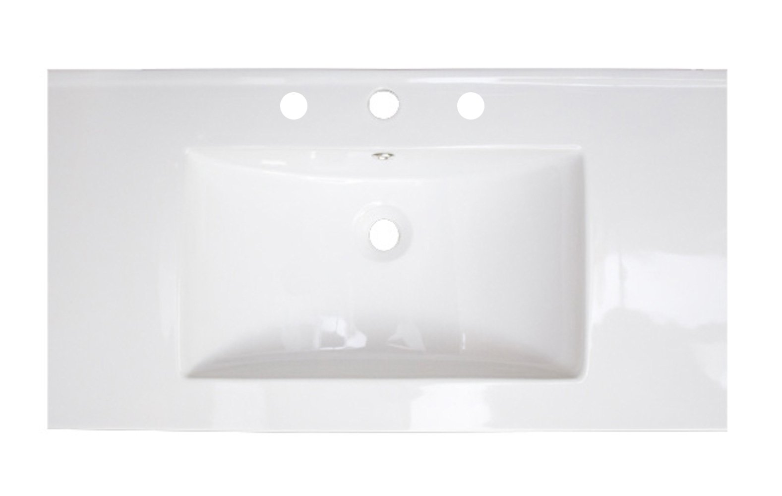 American Imaginations D Ceramic Top For 4-in. o.c. Faucet, 37-Inch x 22-Inch, White by American Imaginations