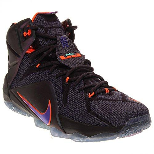 nike lebron XII 12 hombres zapatillas de baloncesto tipo botín 684593 zapatillas james Cave Purple/Hyper Grape-Hyper Crimson-Hyper Turquoise